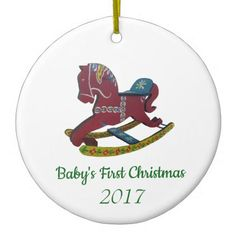 Baby's First Christmas Ceramic Ornament - baby gifts child new born gift idea diy cyo special unique design