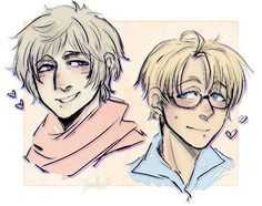 Hetalia - RusAme❤:>>> I don't ship them together but this art is adorable