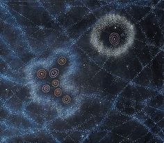 Seven Sisters Dreaming by Alma Nungarrayi Granites Sand Painting, Dot Art Painting, Aboriginal Dot Art, Kunst Der Aborigines, Alien Aesthetic, Cosmic Art, Beauty In Art, Tribal People, Maori Art