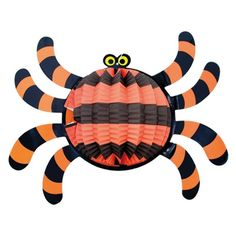 3 X Large Assorted Halloween Hanging Spiders Spooky Novelty 3D Party Decoration