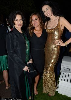 The Jagger reunion! Mick's women past and present join his daughters at Serpentine Summer Party Mick Jagger Wife, Bianca Jagger, Jade Jagger, Red Slip Dress, Cavalli Dress, L'wren Scott, Georgia May Jagger, Step Kids, Daddys Girl