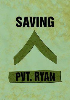 Saving Private Ryan - minimal movie poster