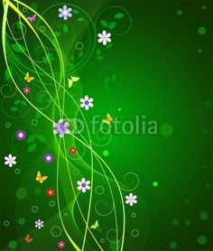 Vector: Floral abstract background  vector