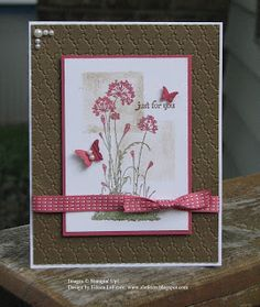 "By Eileen LeFevre. Uses stamp from ""Serene Silhouettes"" by Stampin' Up."