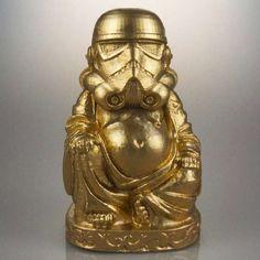 Personajes de 'Star Wars' se ponen la barriguita de Buda