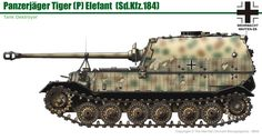 Jagdpanzer Tiger(P) Ferdinand/Elefant (late) Military Photos, Military Art, Military History, Tiger Ii, Ferdinand Porsche, Army Vehicles, Armored Vehicles, Camouflage Colors, War Thunder