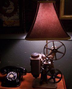 Vintage movie projector lamp/ J Dooley