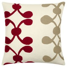 Celine 18x18 Embroidered Pillow, Multi