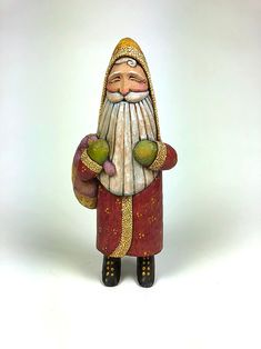 Unique wood carvings, hand carved Santas, and custom carved walking sticks by Shawn Cipa Christmas Is Coming, Christmas Art, Christmas Holidays, Wood Burning Art, Santa Ornaments, Decorative Bells, Woodworking Projects, Hand Carved, Artsy