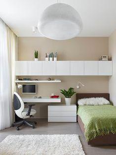 Idee piccola camera ragazzo, stile moderno, molto ben organizzata e luminosa