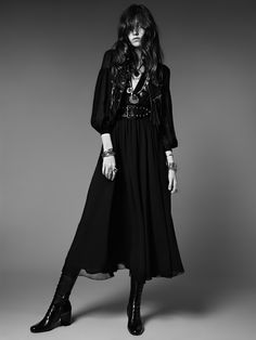 deshistoiresdemode: Saint Laurent Psych Rock Collection by Hedi Slimane with Grace Hartzel, Los Angeles, June Best Picture For Rock Style women For Your Taste You are looking for something, and Dark Fashion, 70s Fashion, Gothic Fashion, Fashion Dresses, Womens Fashion, Lolita Fashion, Rock Style Fashion, Hippie Fashion, Latex Fashion