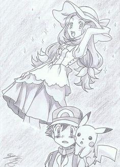 from XY Movie and Episode 7 ©Satoshi Tajiri/Nintendo Serena - And Satoshi! How do I look?