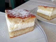 Semmeltårta i långpanna | Gunilla Fika, Vanilla Cake, Baking Recipes, Cheesecake, Cooking, Desserts, Mat, Pictures, Cooking Recipes