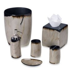 Kenneth Cole Reaction® Home Petrified Wood Bath Accessories    BedBathandBeyond.com