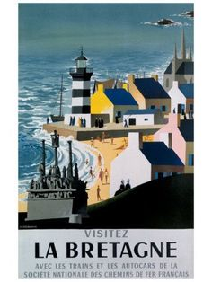 FRANCE - Brittany - Lighthouse vintage travel