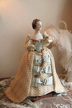 beautiful porcelain lady figurine