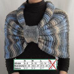 Sale 20% Hand Knit Wrap Shrug CapletBolero Shawl by vinevirak