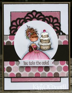 """Paper Perfect Designs by Kim O'Connell: Stamping Bella """"Uptown Girl Ava Loves to Celebrate"""""""