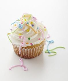 Commemorate New Year's Eve with these celebratory cupcakes!