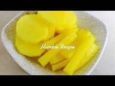 How to make Yellow Pickled Daikon Radish Danmuji Takuan - - Pickled Daikon Radish Recipe, Korean Pickled Radish, Pickled Radishes, Radish Recipes, Asian Recipes, Gourmet Recipes, Cooking Recipes, Healthy Recipes, Healthy Food