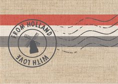 Postkaart From Holland with Love www.hipenstipkaarten.nl