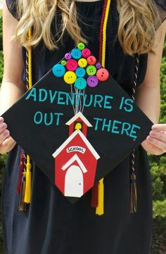 My UP inspired Graduation Cap! Pefect for Education Majors and future teachers! - My UP inspired Graduation Cap! Pefect for Education Majors and future teachers! – – Source by aliciachandlerr - Teacher Graduation Cap, Graduation Cap Designs, Graduation Cap Decoration, College Graduation, Graduation Attire, Graduation Balloons, Preschool Graduation, Education Major, Education College