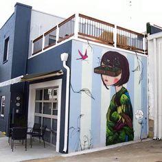 Ju Violeta at the Annapolis Design District, 2015. Urban Walls Brazil