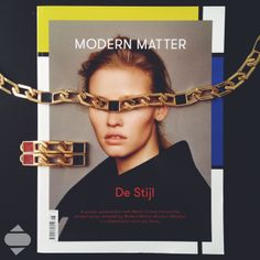 Leather insert large link chain Necklace and Earrings GOGO PHILIP- Modern Matter issue 6