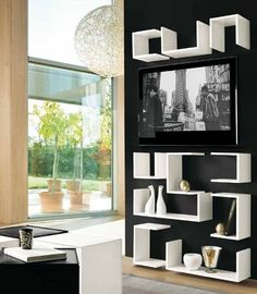 Lacquered modular #bookcase KAOS by F2 FORM AND FUNCTION #books #interiors