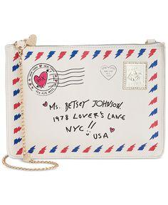 Betsey Johnson Love Letter Crossbody - All Handbags - Handbags & Accessories - Macy's
