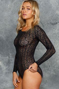 Flapper Bodysuit (AU $60AUD) by BlackMilk Clothing