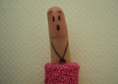 Finger Art, drops the towel