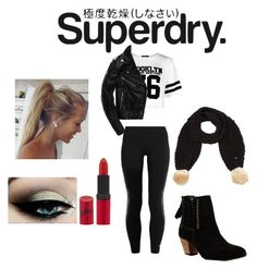 """""""The Cover Up – Jackets by Superdry: Contest Entry"""" by jazzrodgers ❤ liked on Polyvore featuring Boohoo, Superdry, adidas, Rimmel, Winter, contest, contestentry and superdry"""