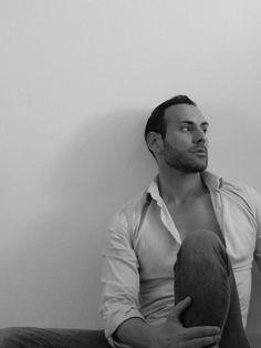 Stefano Zulian man black & white picture male model