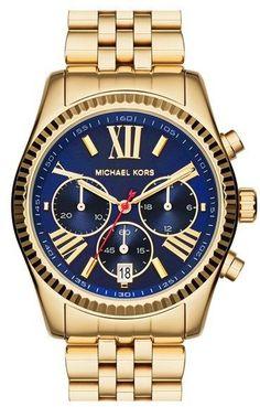 a68f6f8582 MICHAEL Michael Kors Michael Kors  Lexington  Chronograph Bracelet Watch