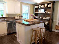 Jenny Steffens Hobick: Kitchen Island | DIY Kitchen Island with Built-In Refridgerator