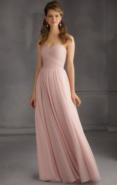 Pretty Chiffon Pink Bridesmaid Dress BNNBE0008-Bridesmaid UK