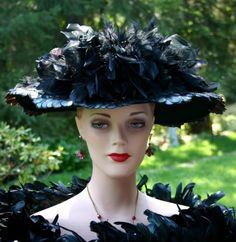 Titanic Hat Edwardian Hat Style Tea Hat NEW design by Darna Lady Elizabeth     $249.00