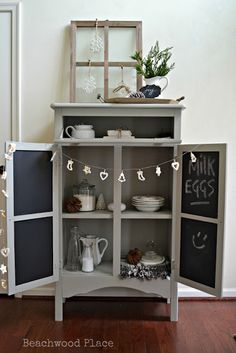 Vintage Farmhouse Cupboard #HomeMattersParty