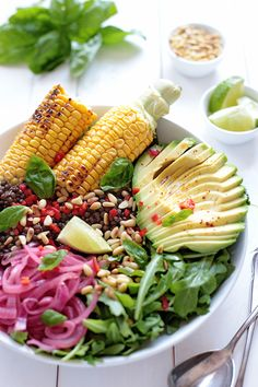 Grilled Corn Salad Bowl - Green Evi