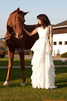 Chiffon Romantische Brautkleider 2014 aus Chiffon