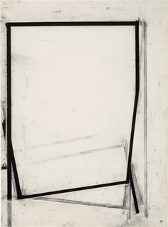 Joel Shapiro - Untitled; Creation Date: 1987; Medium: Charcoal on Fabriano paper; Dimensions: 95.88 X 70.48 cm.