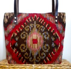 Southwest Indian Aztec Geometric Tote Over the by WhatsNextYaya