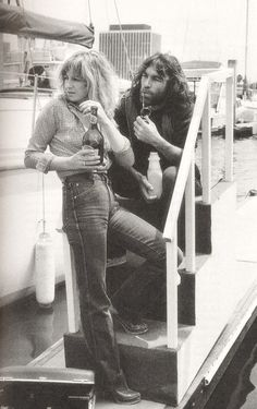 Christine McVie from Fleetwood Mac Dennis Wilson from the Beach Boys. Dennis had just divorced his second wife before he and Christine McVie fell wildly for each other in 1979 while Fleetwood Mac was making the Tusk album.