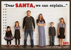 With a tongue-in-cheek pose like this you can easily transform your family photo into a fun holiday greeting card! summertimedesigns.blogspo...