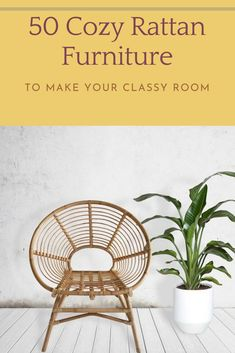 47 Comfortable Rattan Furniture to Make Your Classy Room #furniture #rattanfurniture Rattan Furniture, Furniture Design, Wicker, Household, Classy, Indoor, Make It Yourself, Living Room, Garden