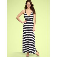 Just picked up this little lovely for spring!  Gap Striped Maxi Dress found on Polyvore