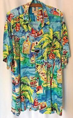 502ebbb7 Kahala Hawaiian Islands XL USA Rayon Cuba Libre Rum Music Band Palm Ocean  #Kahala #Hawaiian