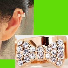 Full Rhinestone Bow Ear Cuff (Single, No Piercing)   LilyFair Jewelry, $9.99!