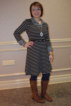 NYC Recessionista: What NYC Recessionista Wears: Stripey new dress